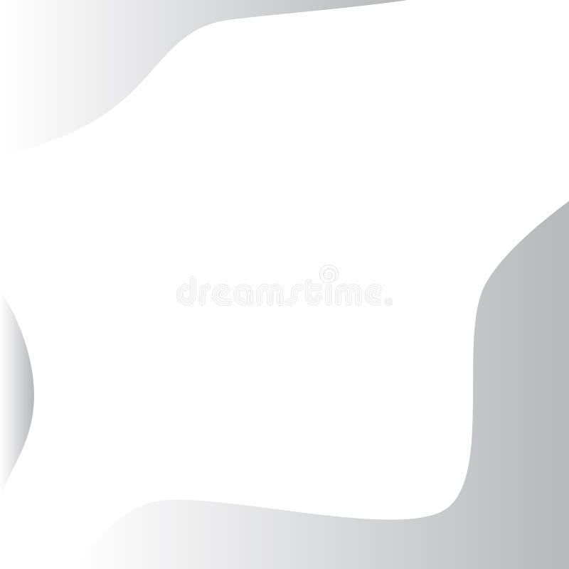 Bielu popielaty abstrakcjonistyczny tło z stałym kolorem ilustracji