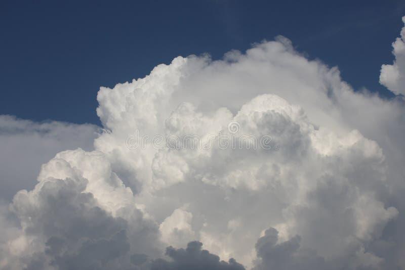 Bielu powietrze chmurnieje przeciw niebieskiemu niebu fotografia royalty free
