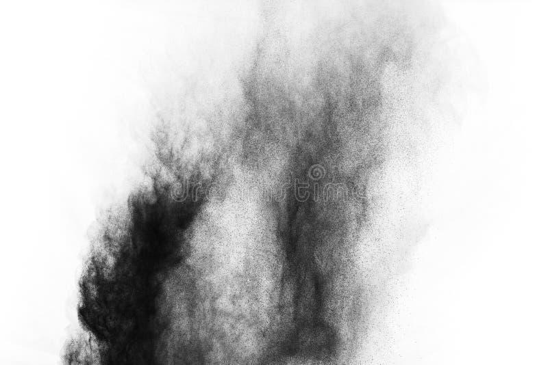 Bielu prochowy wybuch na białym backgroundabstract proszku splatted na białym tle zdjęcie royalty free