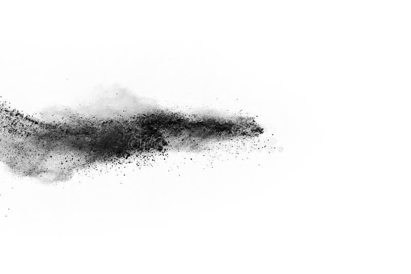 Bielu prochowy wybuch na białym backgroundabstract proszku splatted na białym tle obraz royalty free