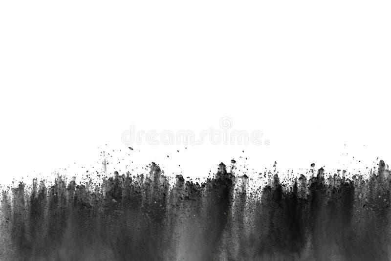 Bielu prochowy wybuch na białym backgroundabstract proszku splatted na białym tle zdjęcia royalty free