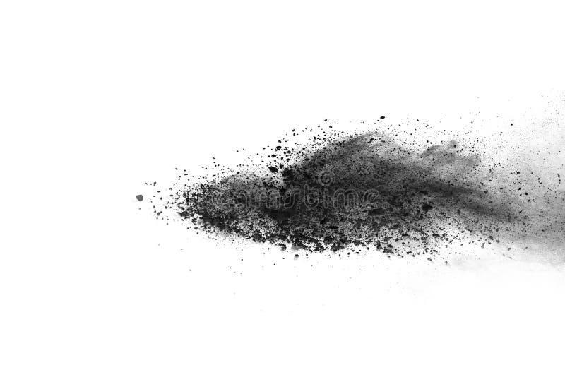 Bielu prochowy wybuch na białym backgroundabstract proszku splatted na białym tle fotografia royalty free