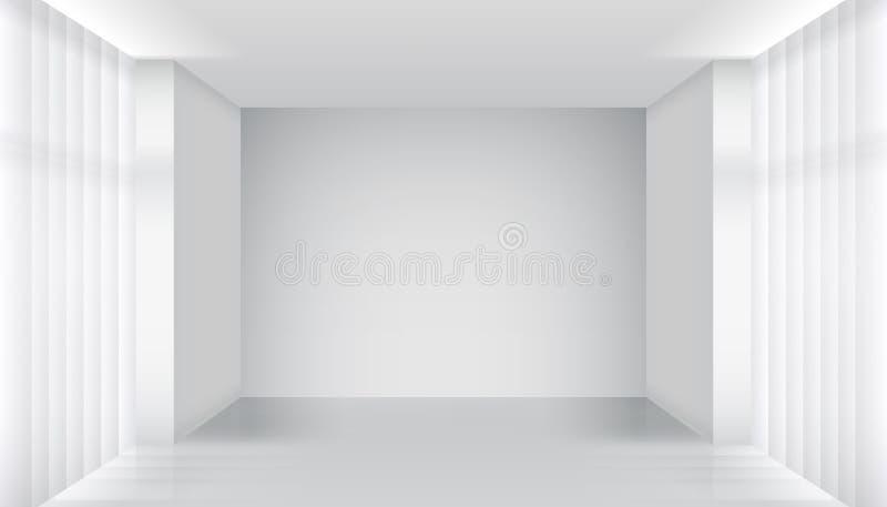 Bielu pusty izbowy wnętrze ilustracji