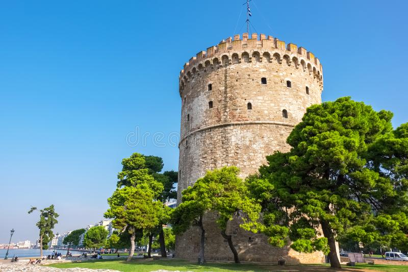 Bielu wierza greece Thessaloniki obrazy royalty free