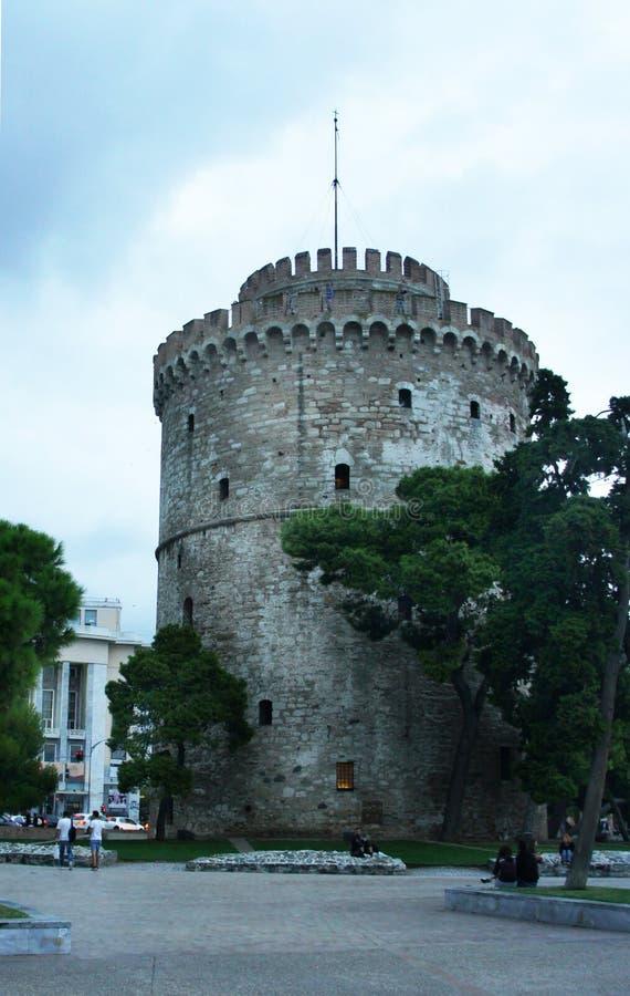 Bielu wierza Saloniki, Chalkidiki zdjęcia royalty free