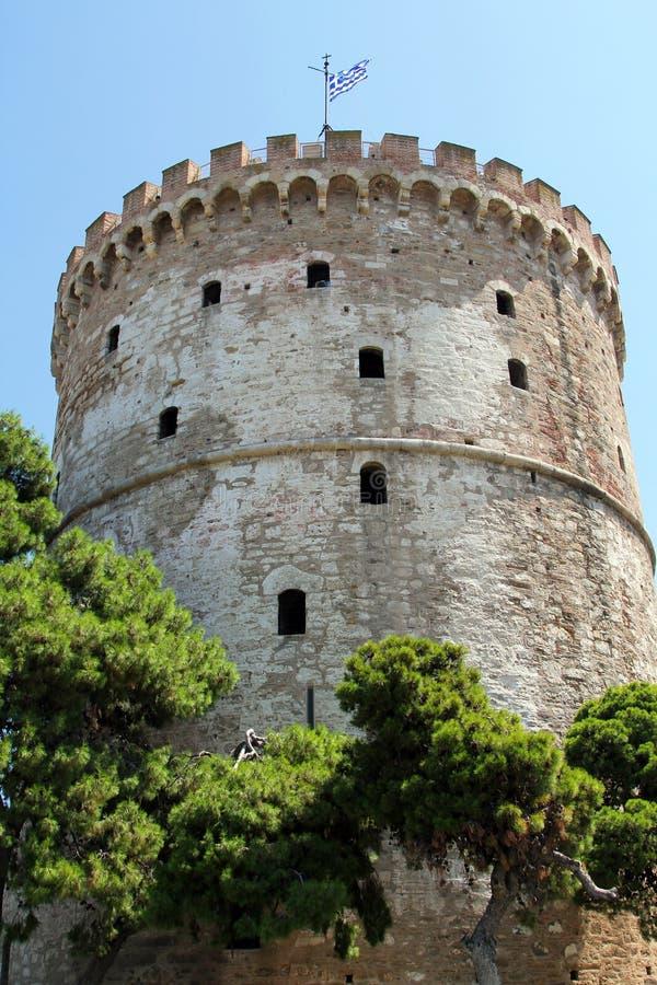 Bielu wierza Saloniki miasto, Grecja fotografia stock