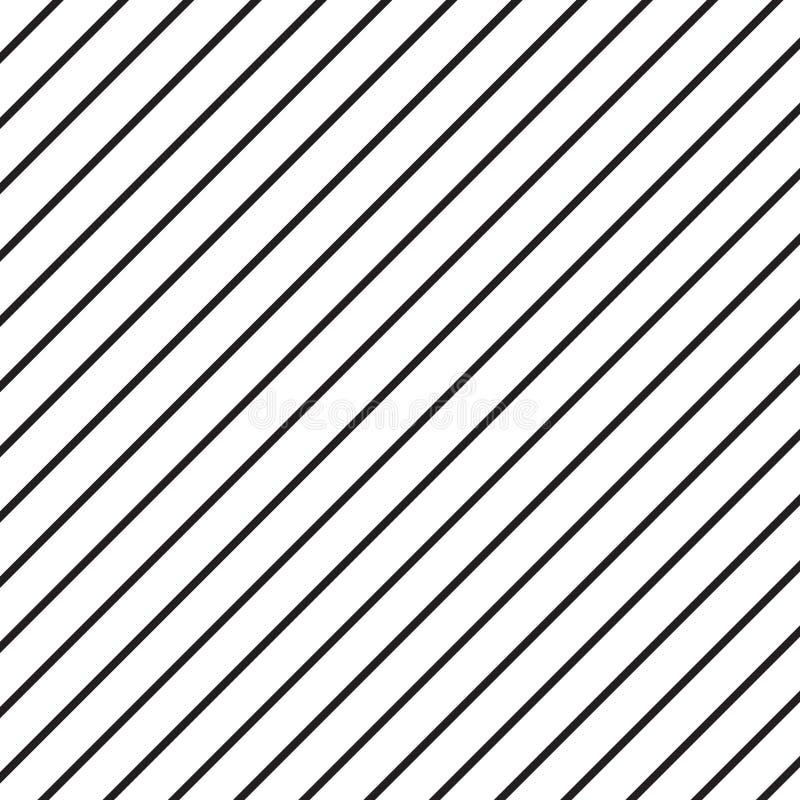 Bielu wzór z czernią paskuje bezszwowego wektorowego wizerunek ilustracji