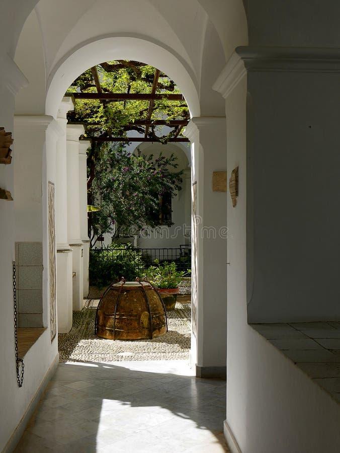 Bien d'une villa dans Anacapri sur l'île de Capri dans la baie de Naples Italie images stock