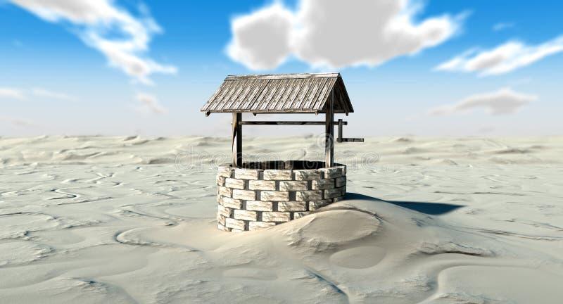 Bien dans un désert illustration libre de droits