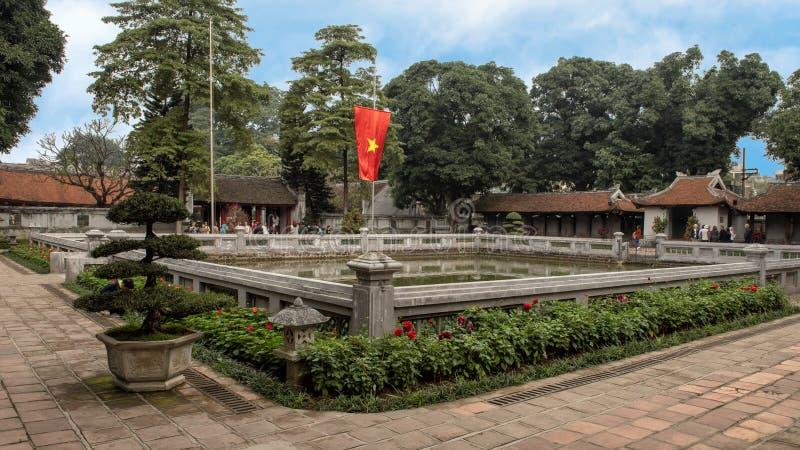Bien de la brillantez divina, tercer patio, templo de la literatura, Hanoi, Vietnam fotos de archivo libres de regalías