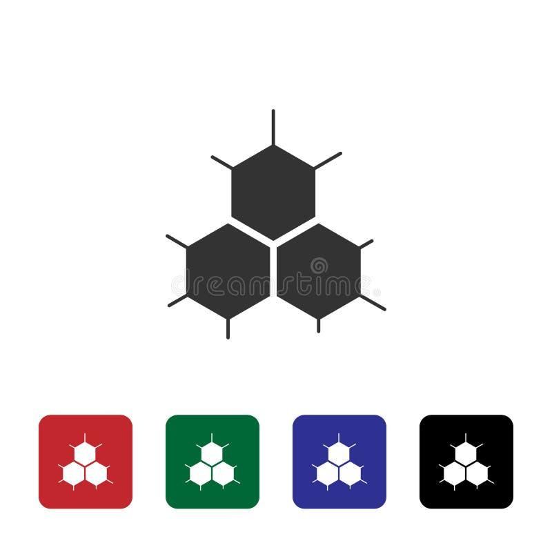 Biene, Bienenwabe, intelligente Vektorikone Einfache Elementillustration vom Biotechnologiekonzept Biene, Bienenwabe, intelligent lizenzfreie abbildung