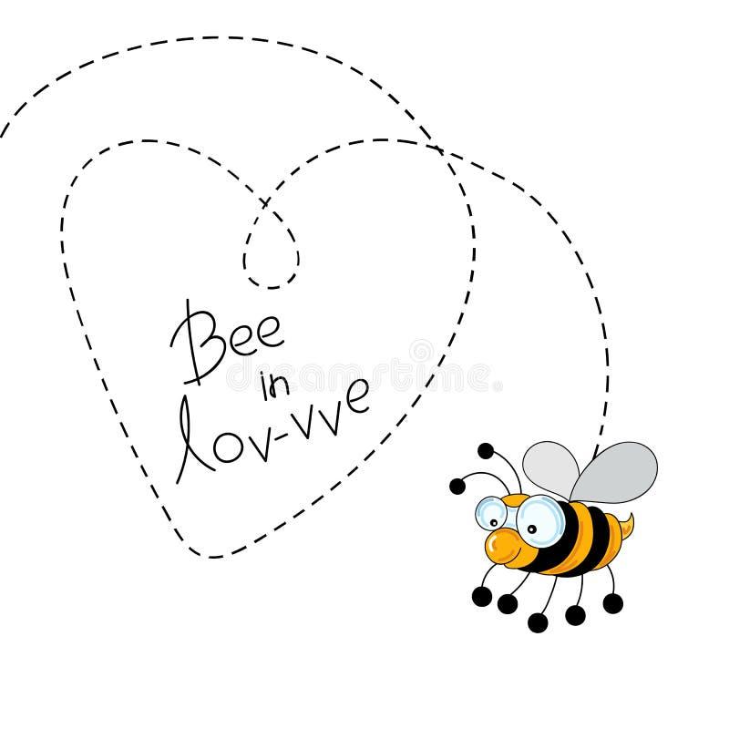 Biene in der Liebe lizenzfreies stockbild