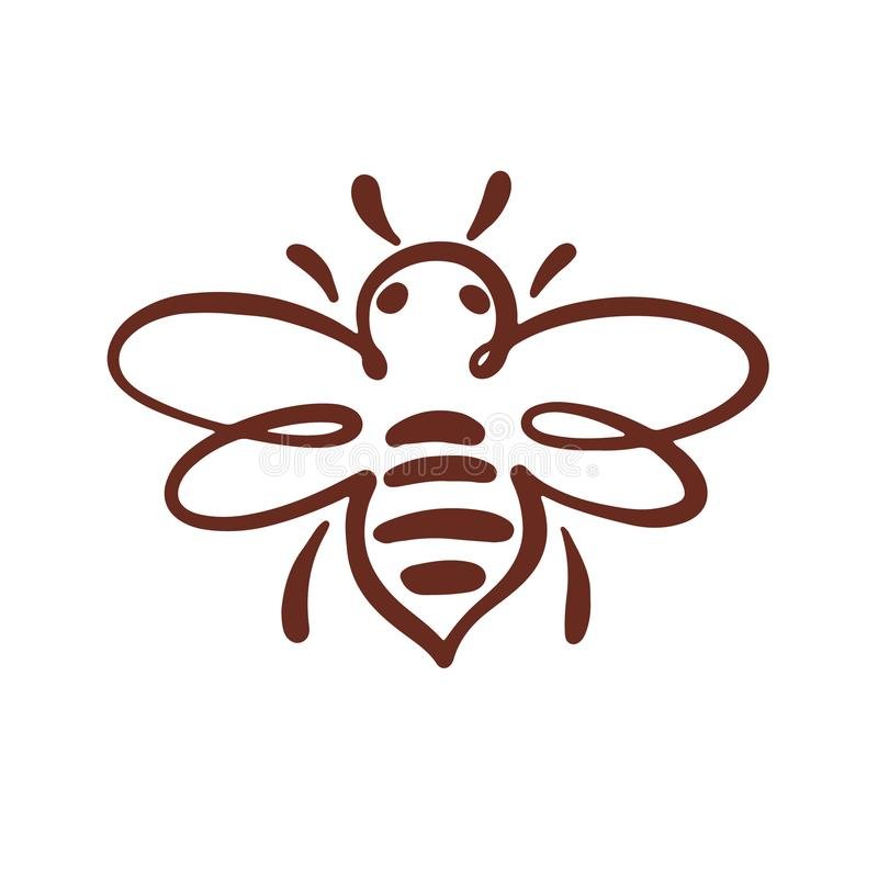 Bienen-Logo, Biene, Honig lizenzfreie abbildung
