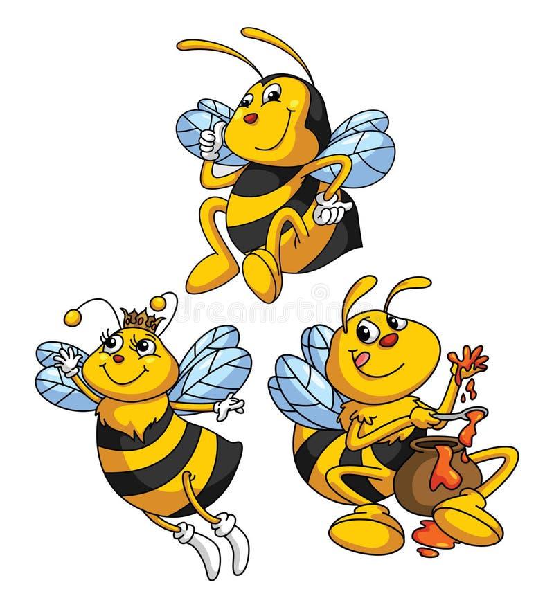 Bienen-lustige Karikatur vektor abbildung. Illustration ...