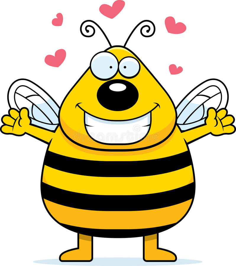 Bienen-Umarmung lizenzfreie abbildung