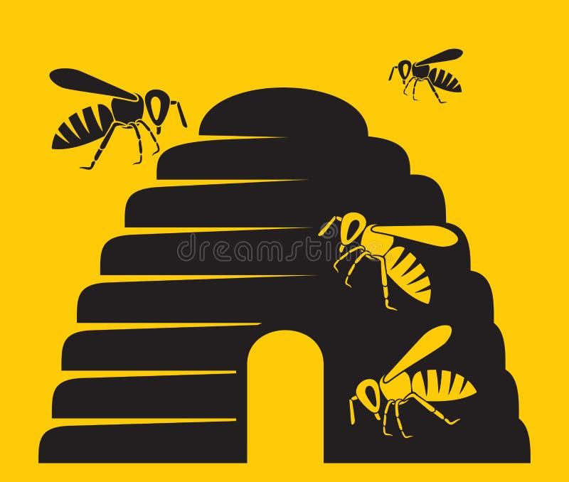 Bienenikone stock abbildung