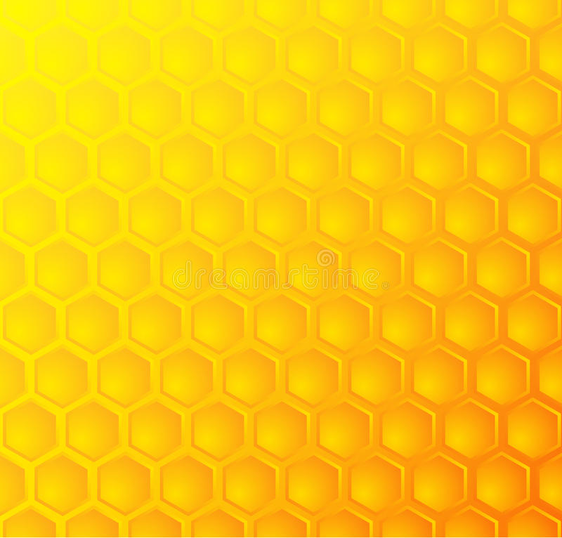 Bienenbienenwabe, nahtloser Musterhintergrund lizenzfreies stockbild