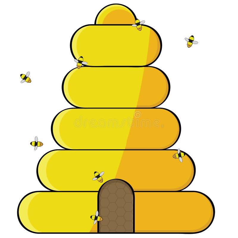 Bienenstock stock abbildung
