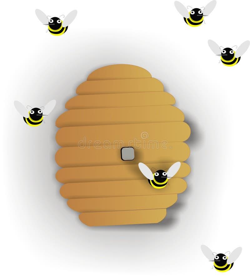 Bienenstock-Abbildung Lizenzfreies Stockbild