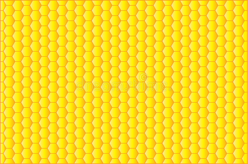 Bienenwabe stock abbildung