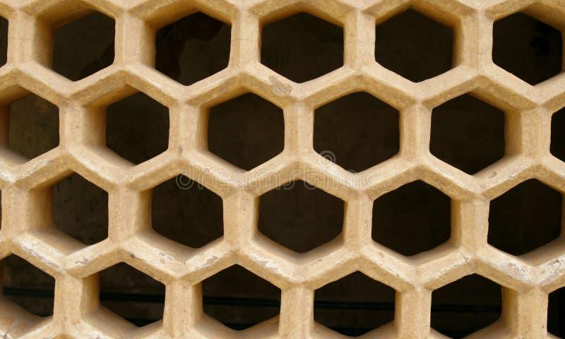 Bienenwabe gekopiertes windowcover. Bernsteinfarbiges Fort, Indien lizenzfreie stockbilder