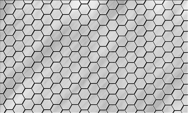 Bienenwabe-nahtloses Muster lizenzfreie stockfotografie