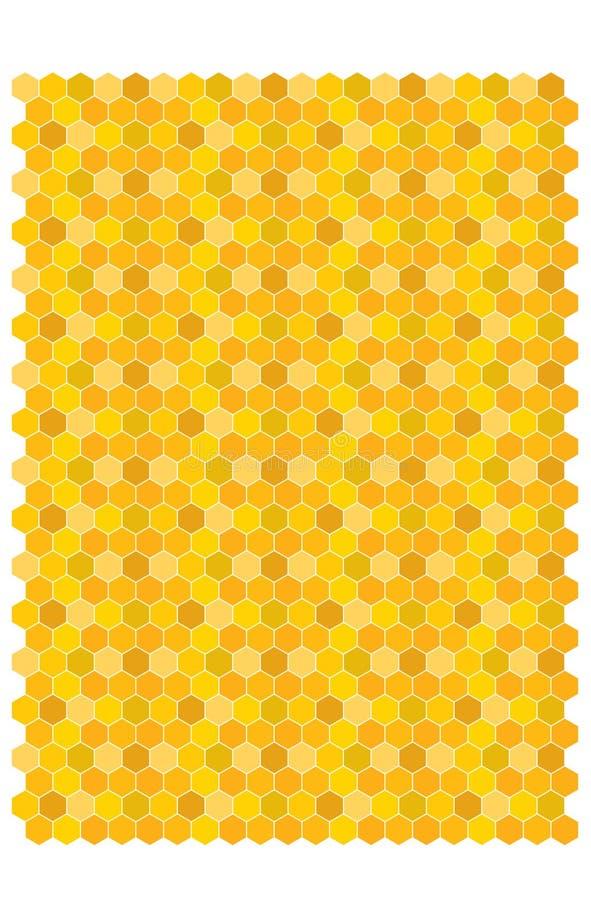Bienenwabenvektor backgraund vektor abbildung