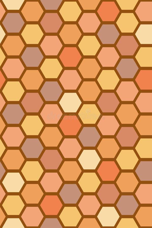 Bienenzellmuster stock abbildung