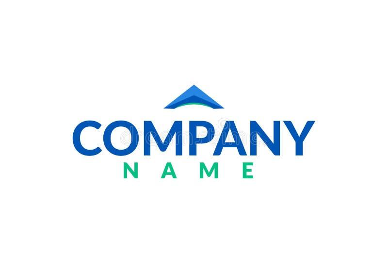 Bienes raices capitales Logo Design ilustración del vector