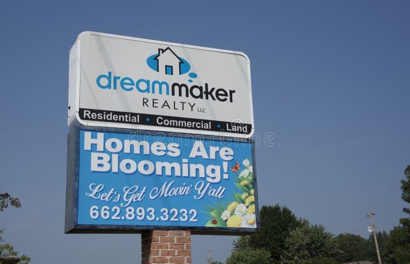 Bienes raices de Dreammaker, Olive Branch Mississippi imagen de archivo libre de regalías