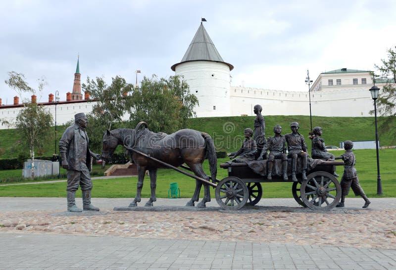 Bienfaiteurs de monument à Kazan images libres de droits