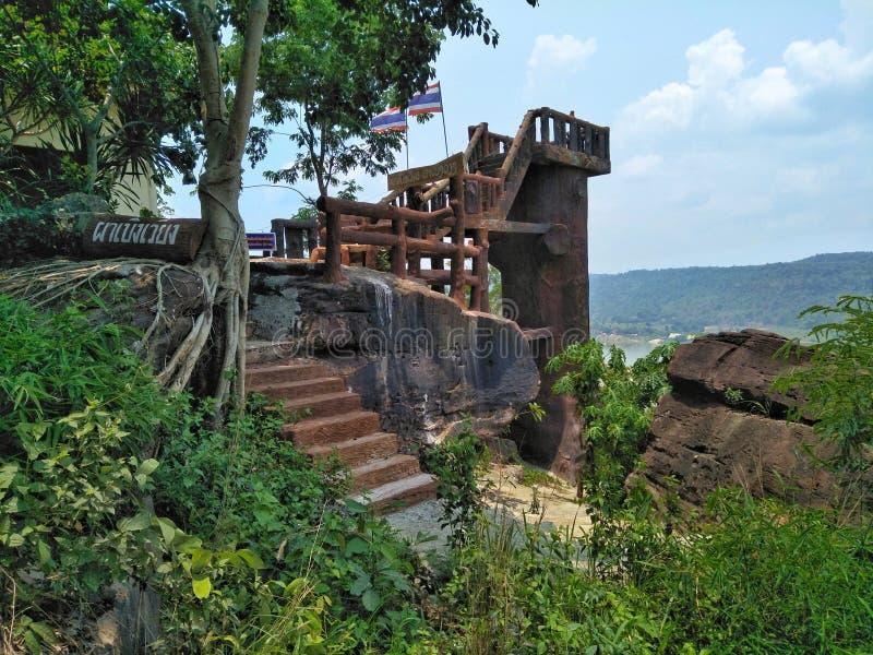 Bieng Wiang del Lan Punto de visión para mirar el río Mekong en Nong Khai de Tailandia imagenes de archivo