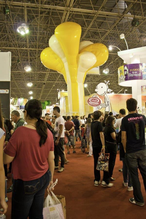 Biennial книги 22 São Paulo международный - Бразилия стоковые фото