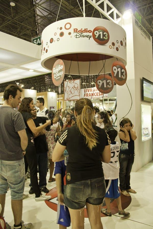 Biennial international de livre de 22 São Paulo - Brésil images libres de droits