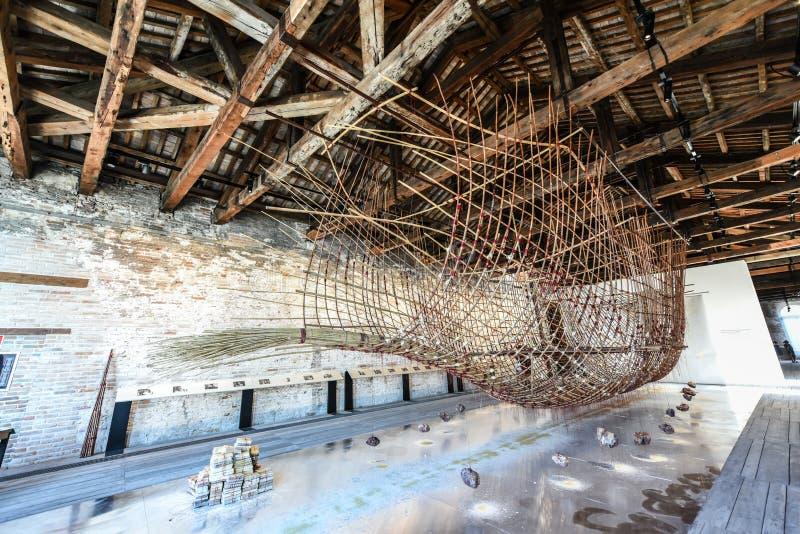 Biennial 2017, pavillon de Venise de Singapour images stock