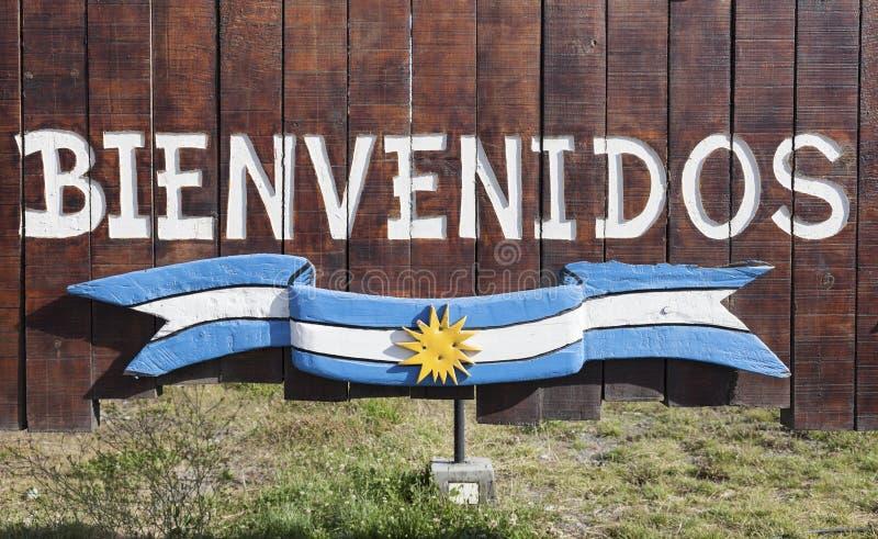 Bienvenidos en Argentina arkivbilder