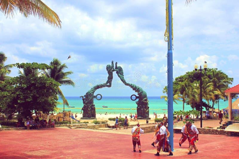 Bienvenidos un maya de Riviera del la fotografía de archivo