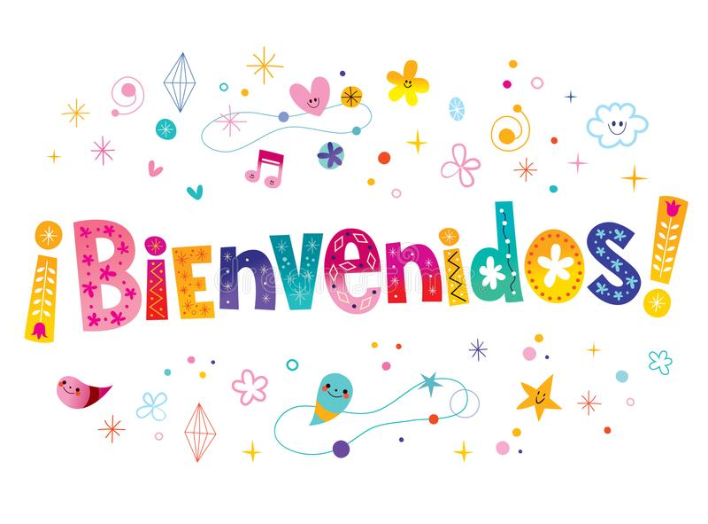 Bienvenidos-Willkommen auf spanisch lizenzfreie abbildung
