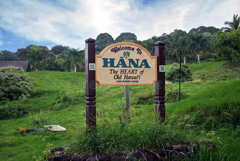 Bienvenue à Hana photographie stock libre de droits