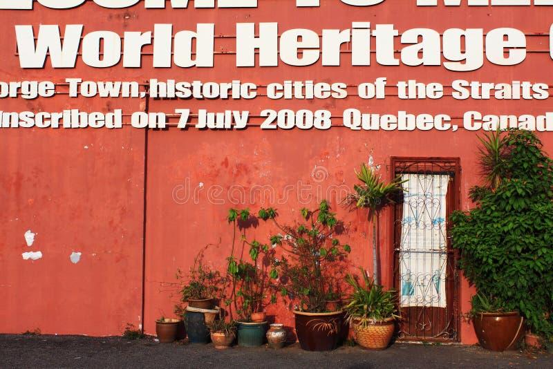 Bienvenue à la ville de patrimoine mondial de Melaka image libre de droits