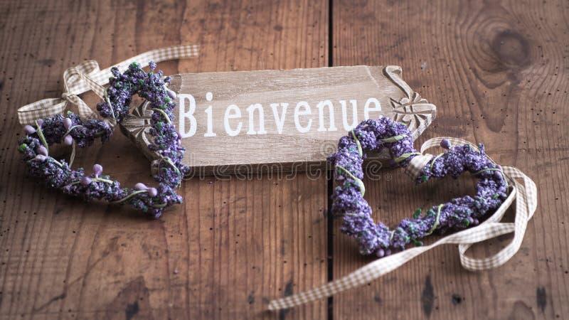 Bienvenue - гостеприимсво к Франции стоковые фото