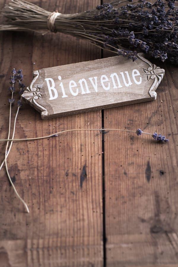 Bienvenue - гостеприимсво к Франции стоковые изображения rf