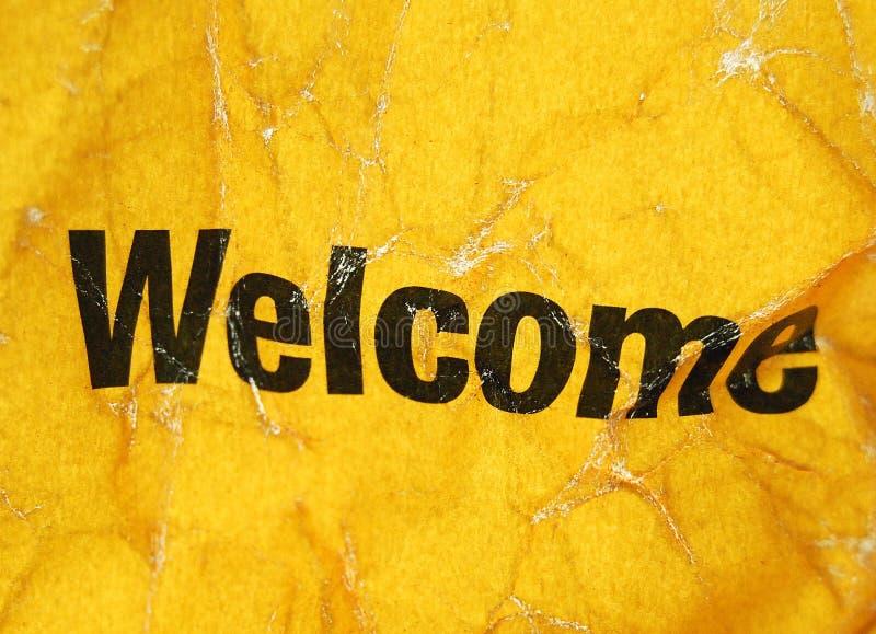 Bienvenue image libre de droits