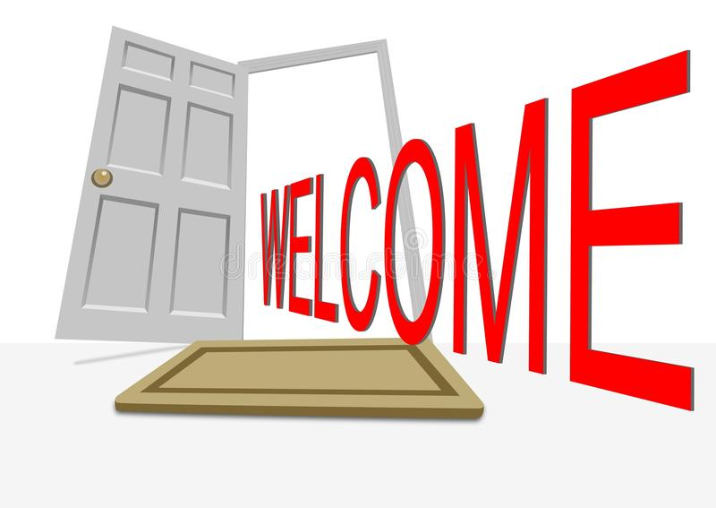 Bienvenue illustration stock