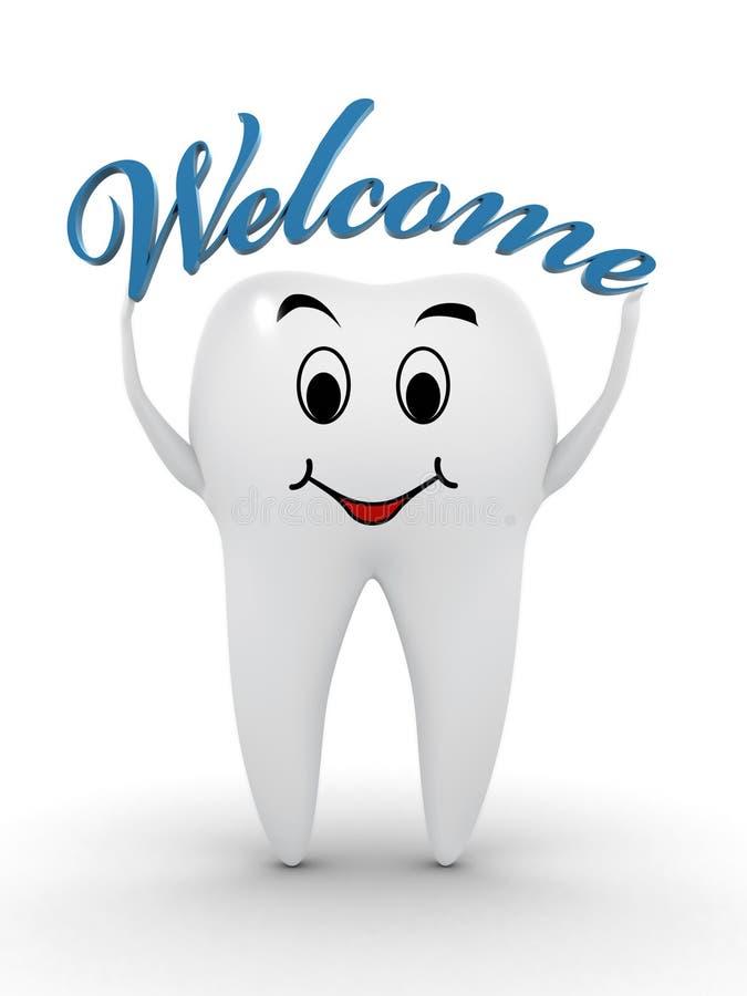 Bienvenue au dentiste illustration stock