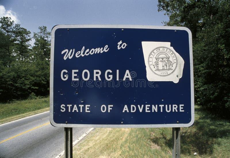 Bienvenue au sigb de la Géorgie images libres de droits