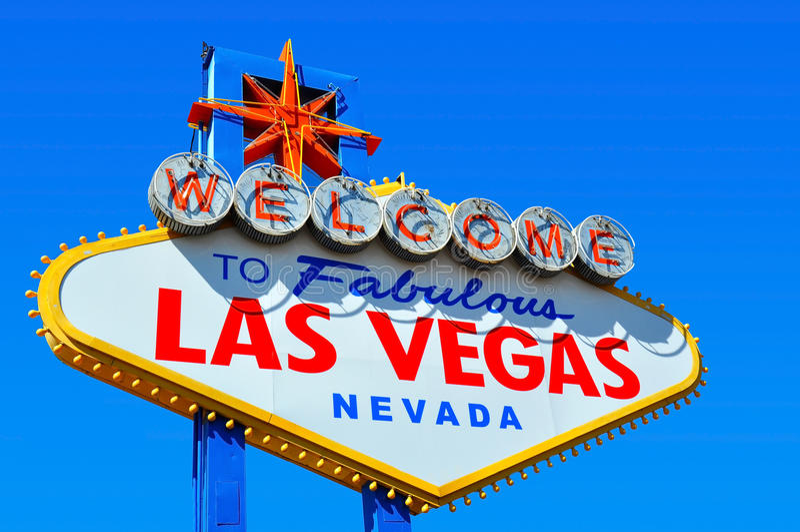 Bienvenue au signe de Las Vegas photo stock