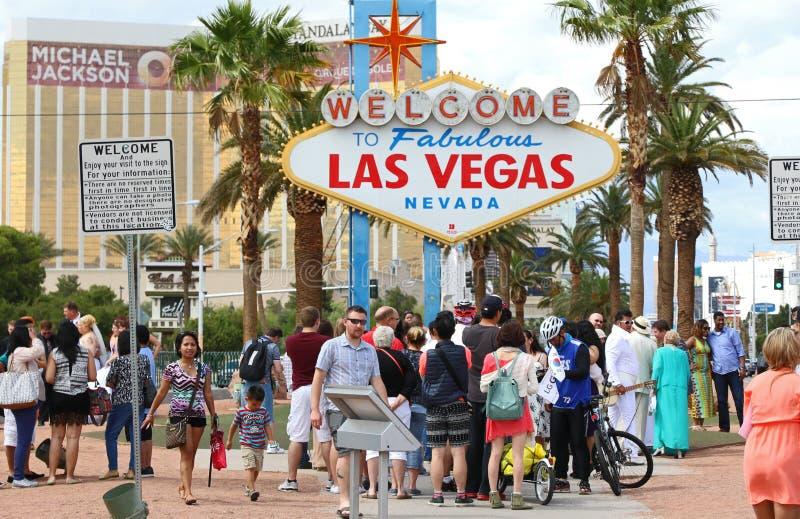 Bienvenue au signe de Las Vegas photo libre de droits