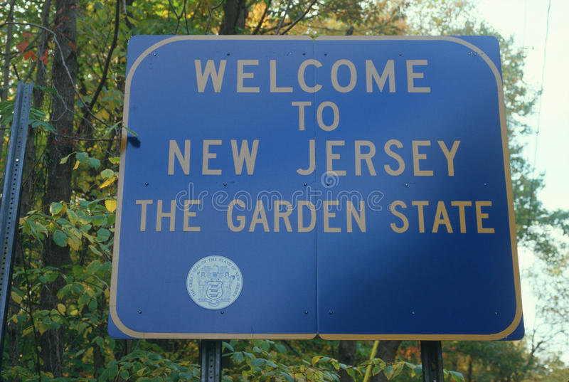 Bienvenue au signe du New Jersey images stock