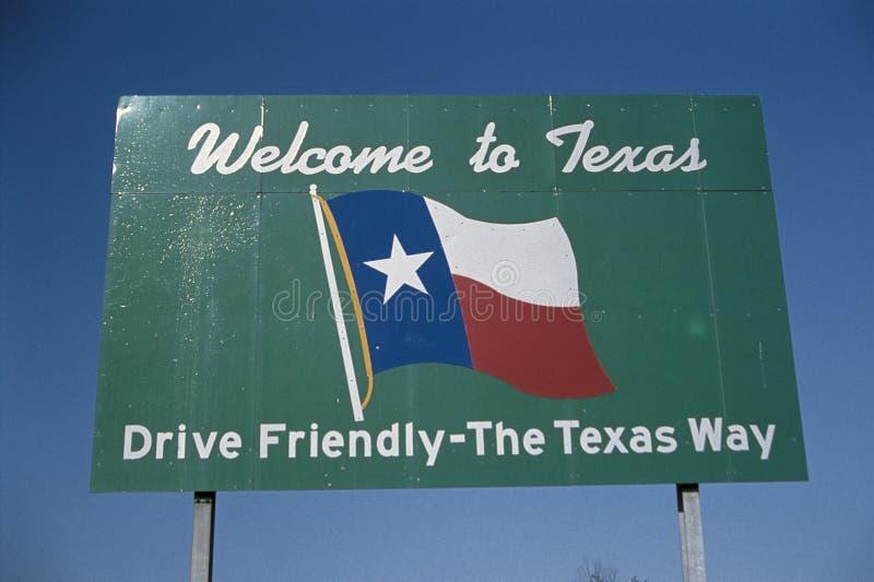 Bienvenue au signe du Texas photo stock